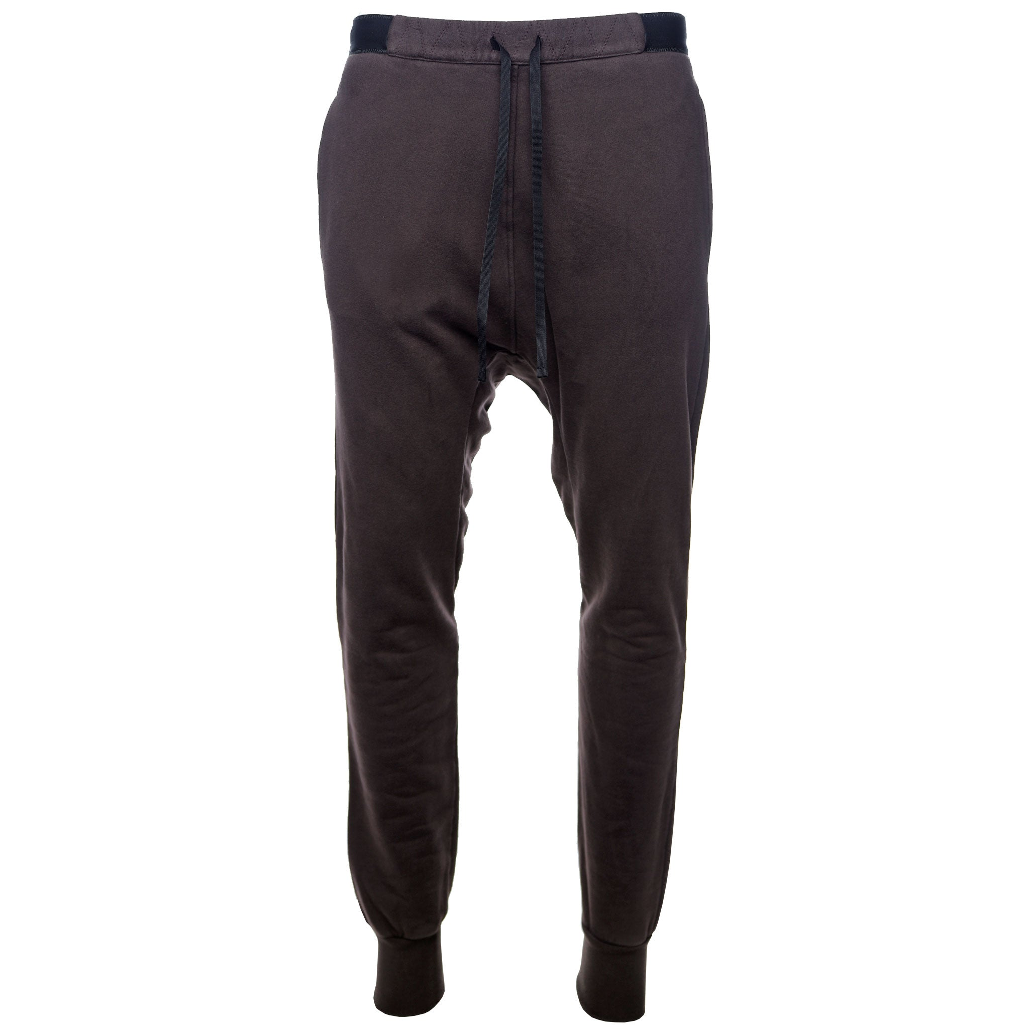 Brown Brushed Terry Low Rise Sweatpant