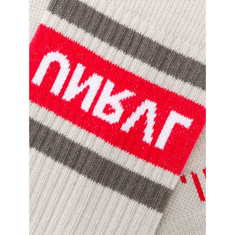 Grey and Red Sport Socks
