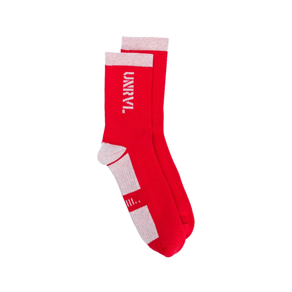 Red and Grey Fleece Socks