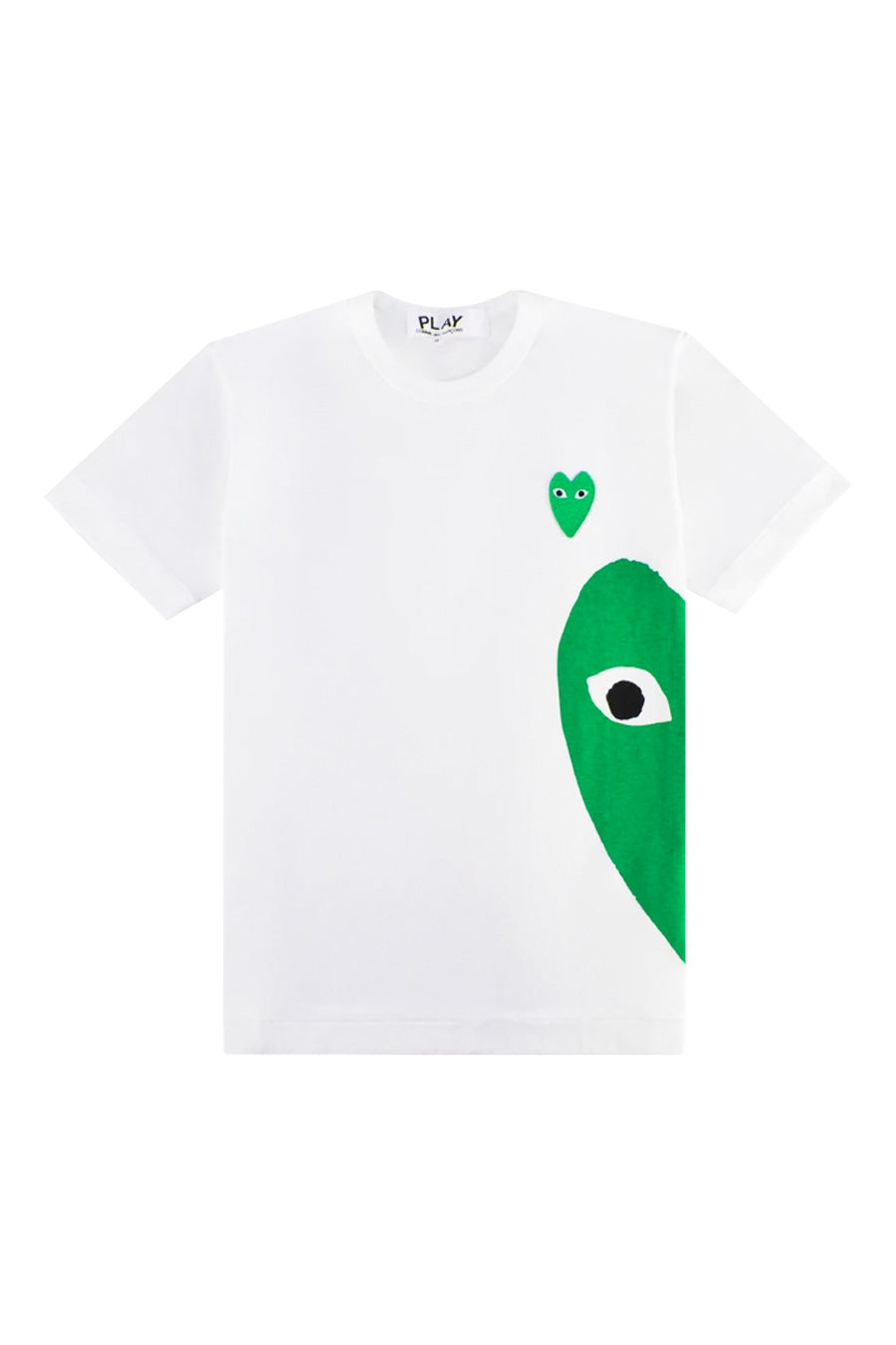 Comme des Garçons PLAY - White Green Side Heart T-Shirt