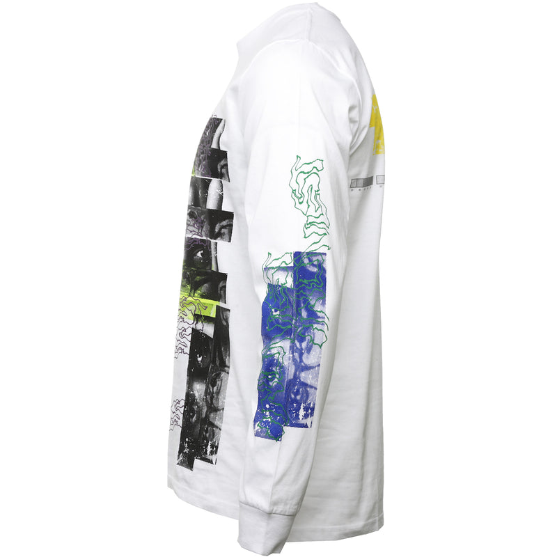 INDVLST - White Visions Hand Printed Long Sleeve T-Shirt