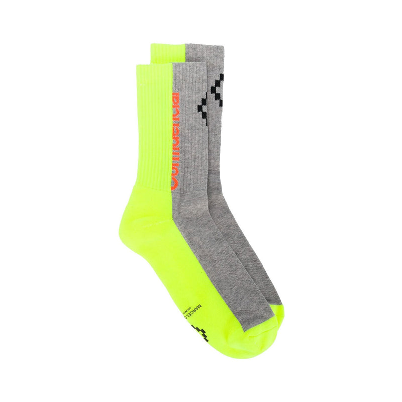 Yellow Fluorescent Confidencial Socks
