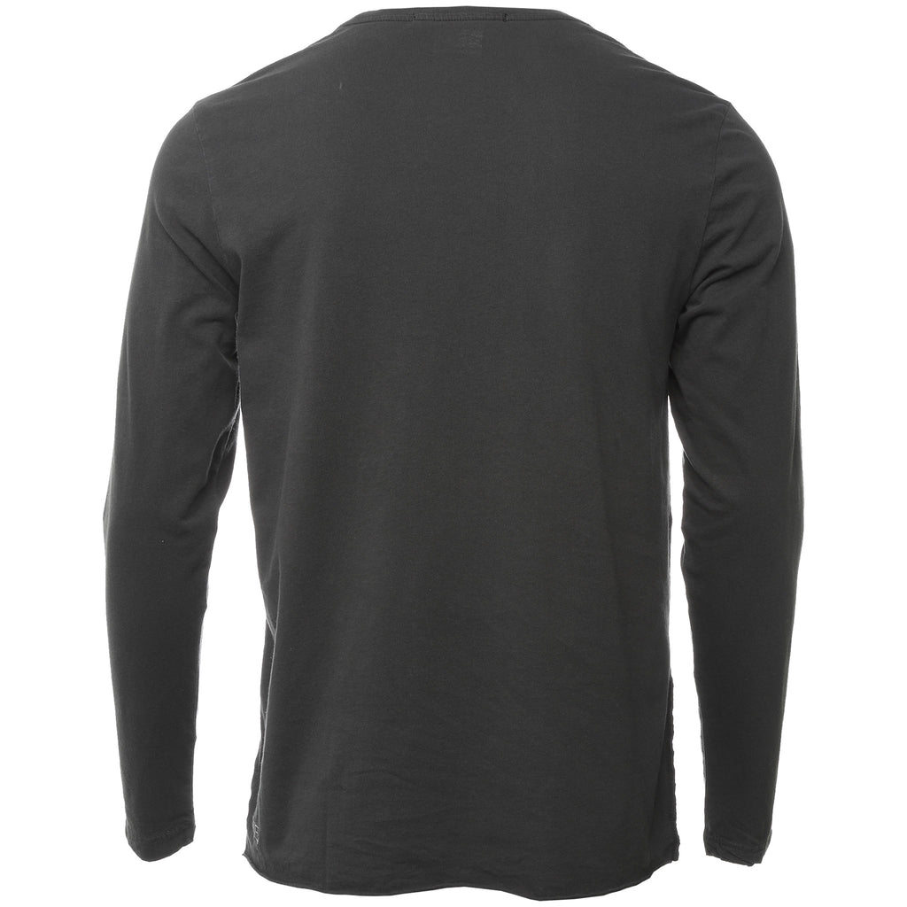 Black Washed Spray Dollar Long Sleeve T-Shirt