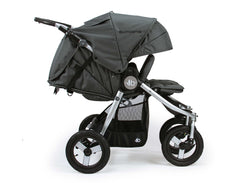 Bumbleride Indie Twin Double Stroller Dawn Grey Mint Profile View