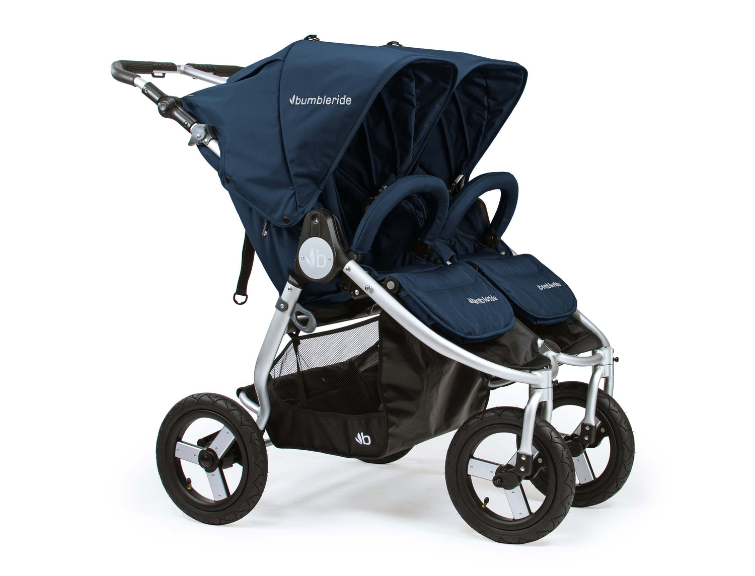 2018 Bumbleride Indie Twin Double Stroller - Maritime Blue