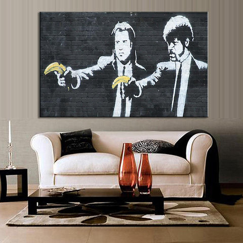 Banksy Pulp Fiction Wall Art – Thrifty Anarchist