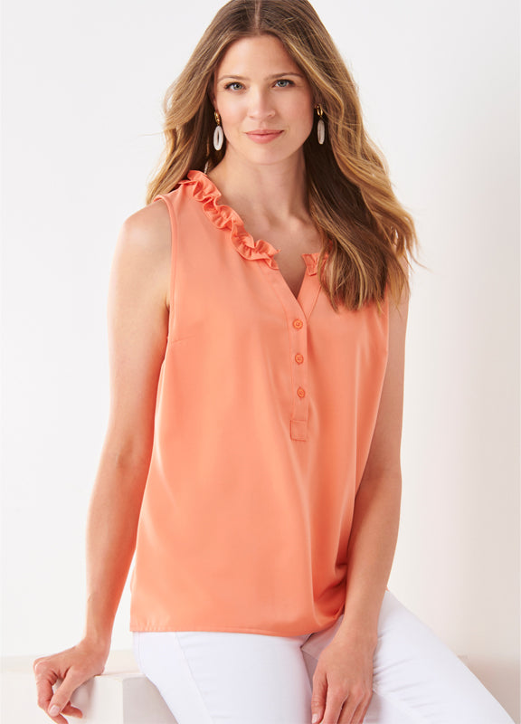 Ruffled Collar Top