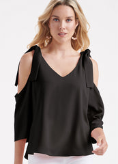 Flowy Cold Shoulder Top