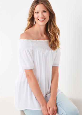 Off-The-Shoulder Stretch Top