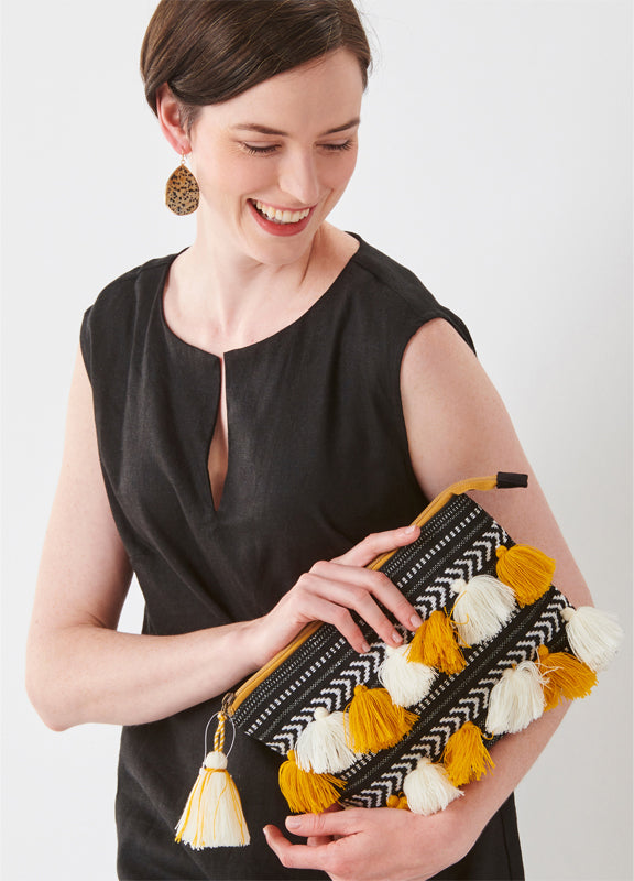 Handcrafted Wristlet Clutch