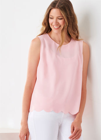 Scallop Hem Layering Top