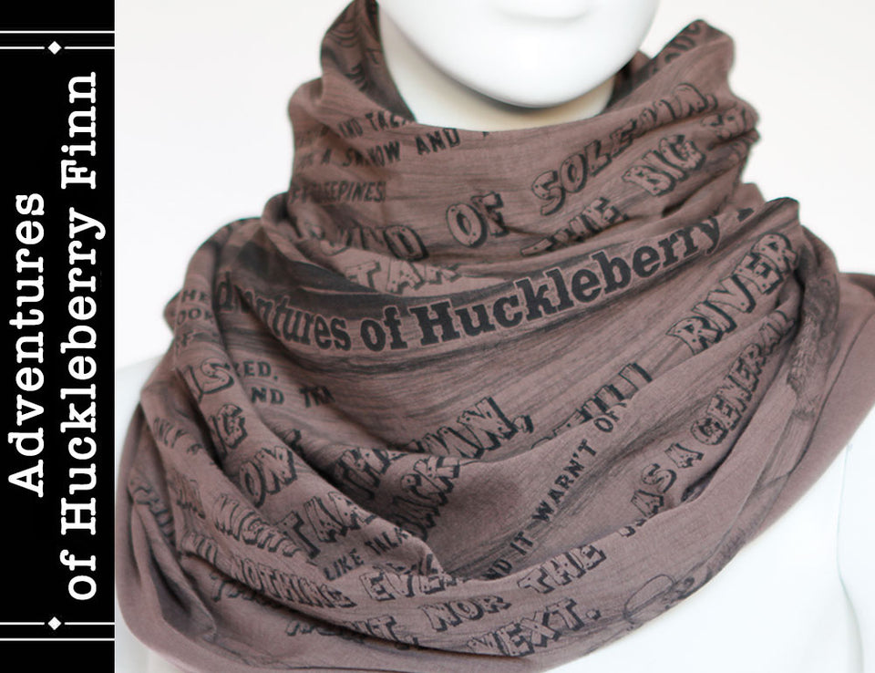 Adventures of Huckleberry Finn Book Scarf by Mark Twain