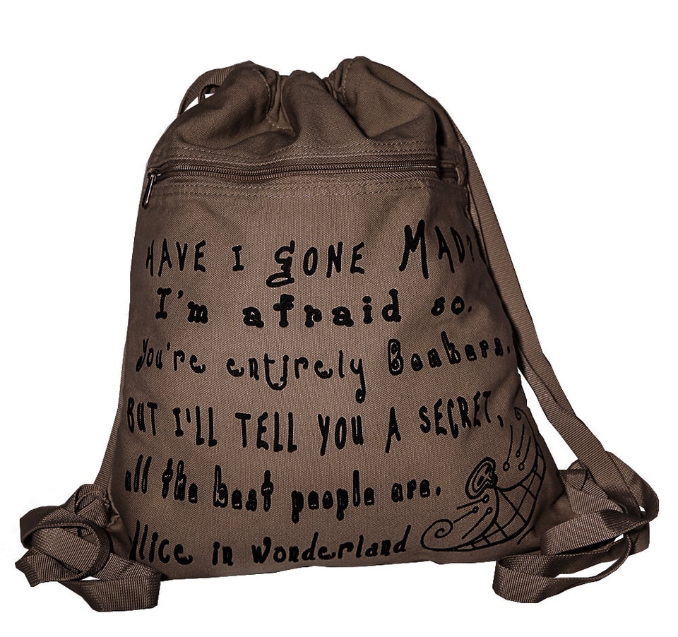 Alice in Wonderland Backpack by Lewis Carroll brown