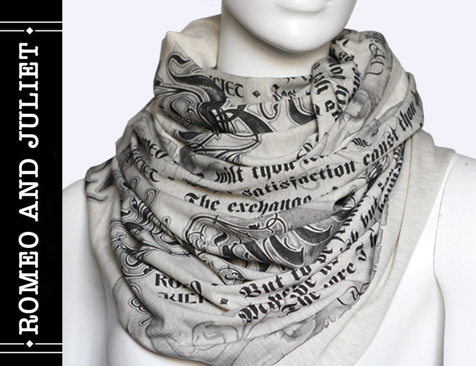 Romeo and Juliet Book Scarf by William Shakespeare