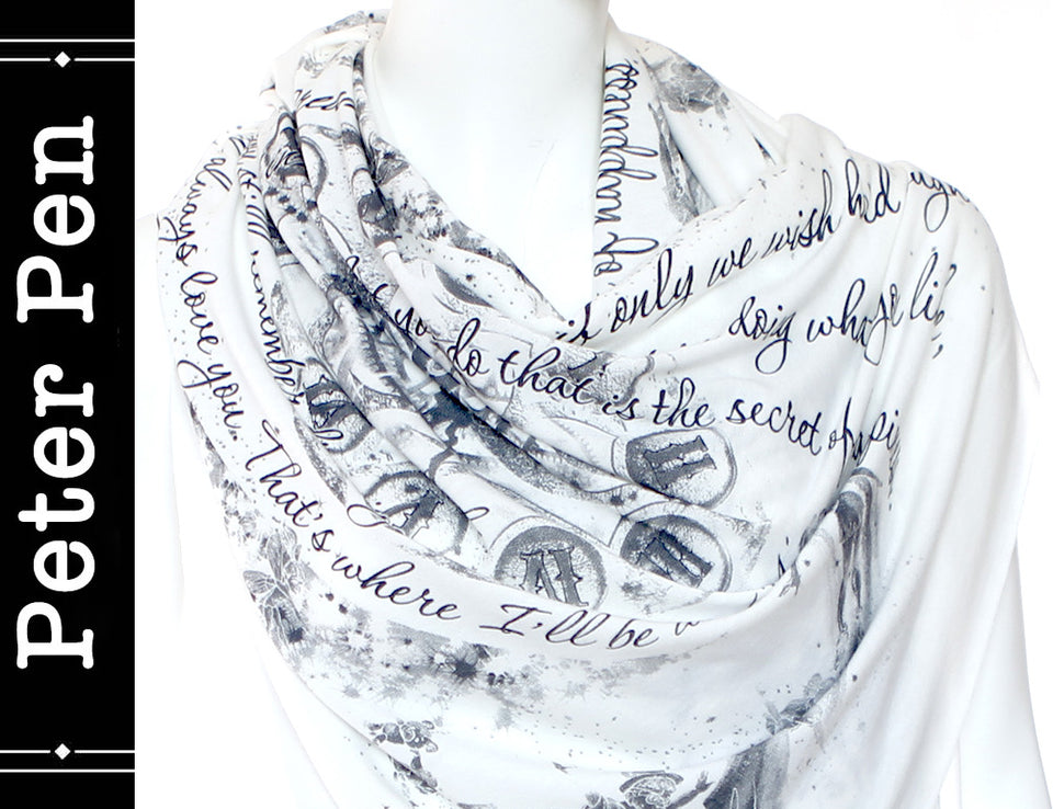 Peter Pan Book Scarf by J. M. Barrie