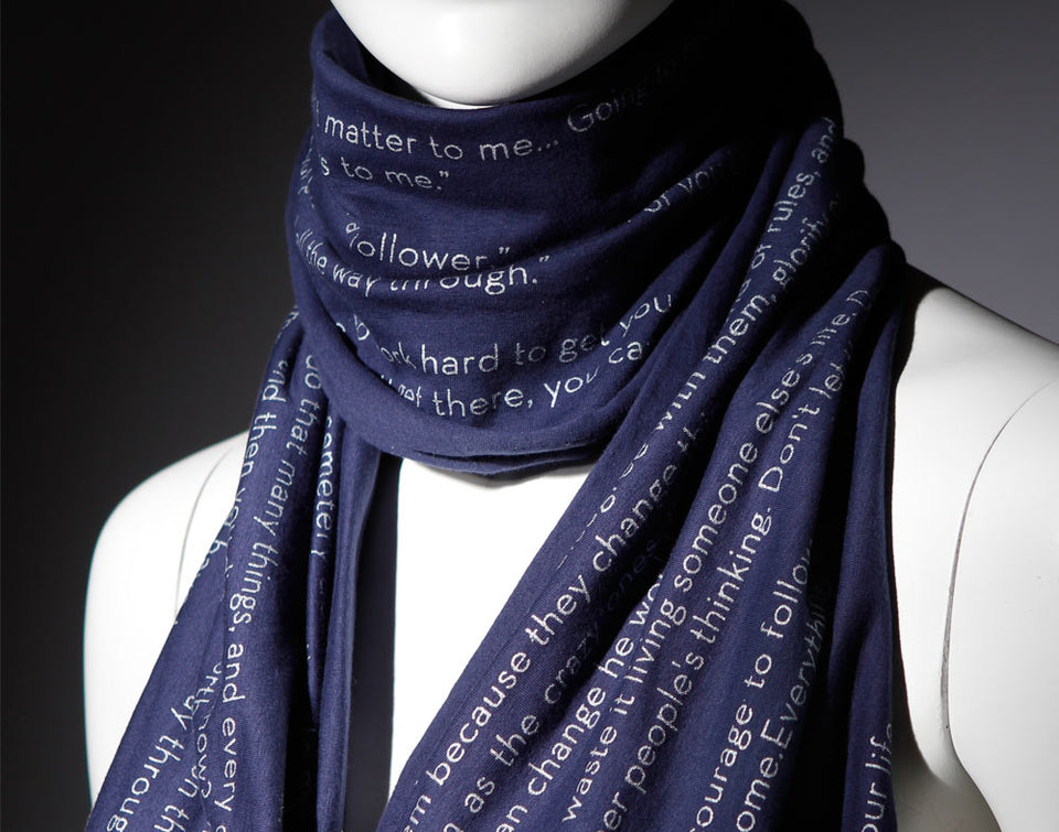 Steve Jobs Quotes - Inspiration Navy Blue Infinity Scarf