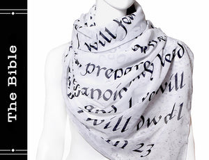 THE BIBLE Book scarf chiffon