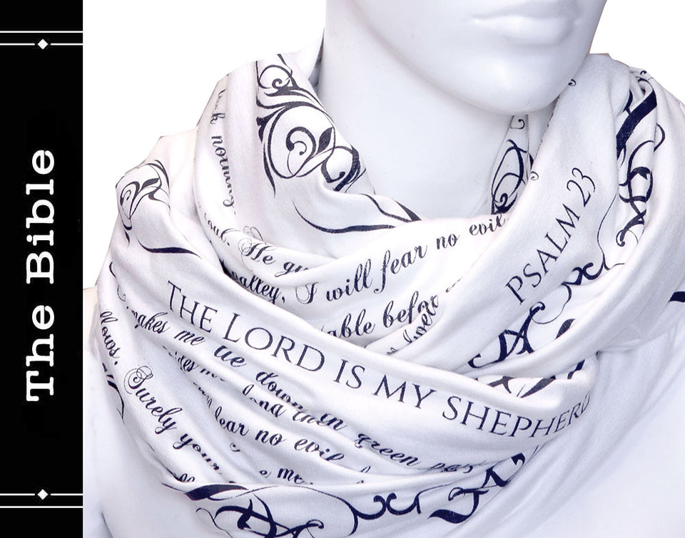 The BIBLE book scarf  PSALM 23