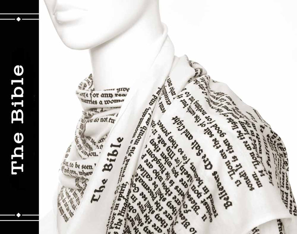 Bible Book Scarf infinity style