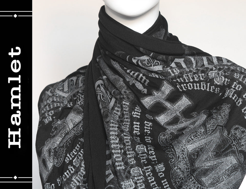 Hamlet book scarf by William Shakespeare
