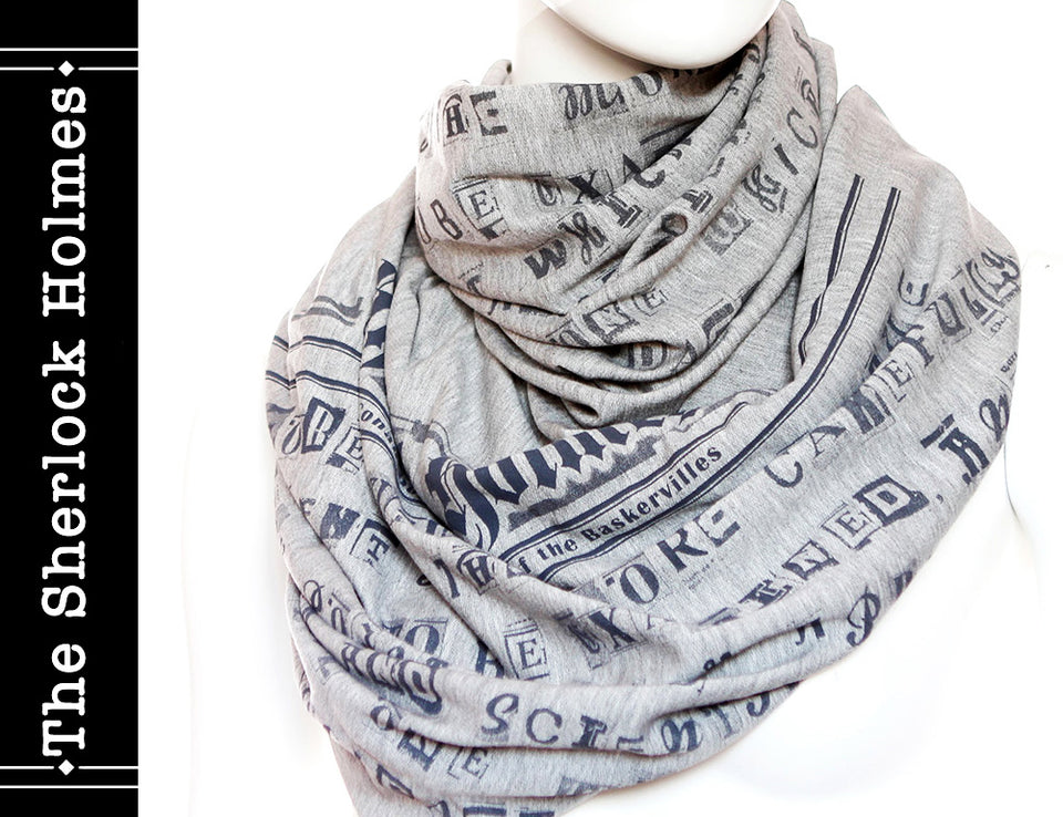 The Sherlock Holmes Book Scarf by Arthur Conan Doyle , Heather Gray