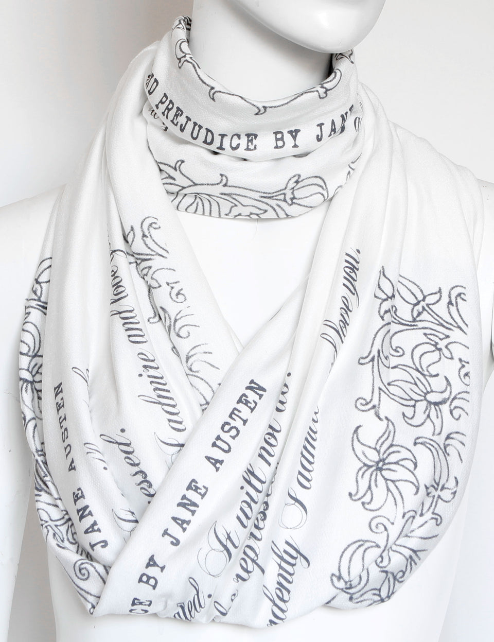Pride and Prejudice book scarf by Jane Austen