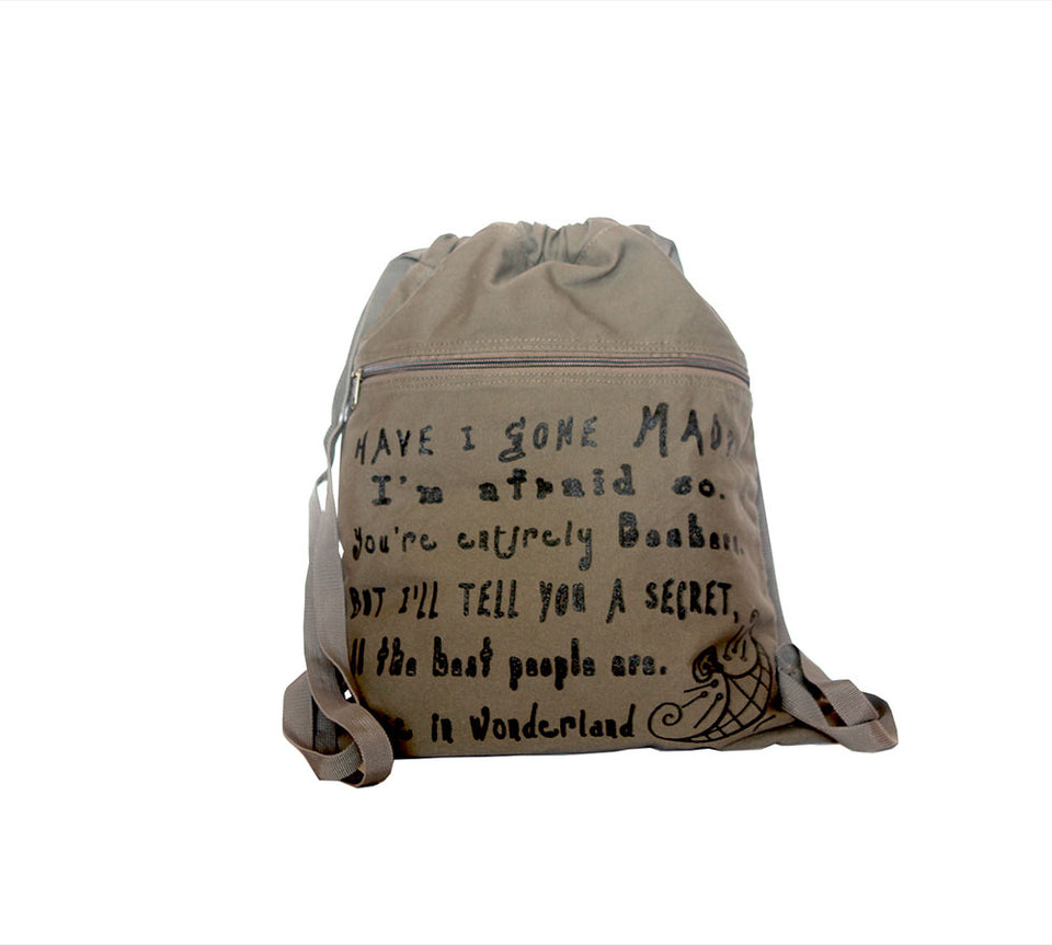 Alice in Wonderland Book bag by Lewis Carroll