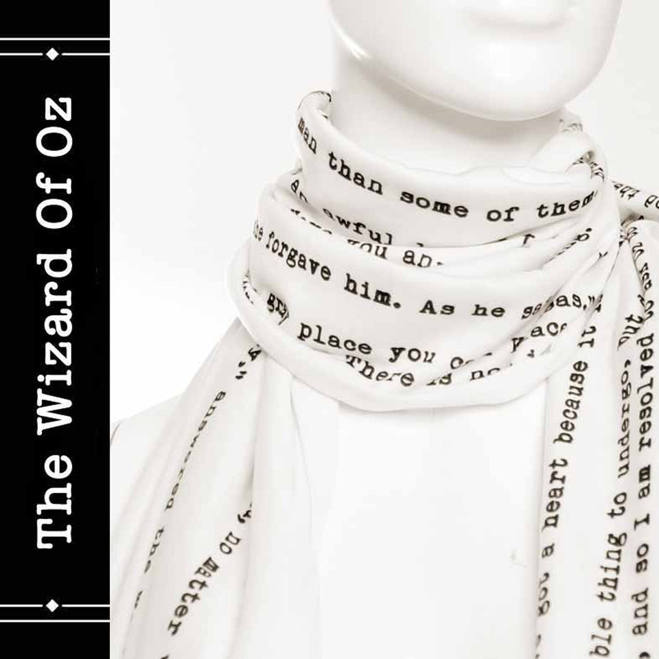 The Wizard Of Oz book on the scarf - Infinity style