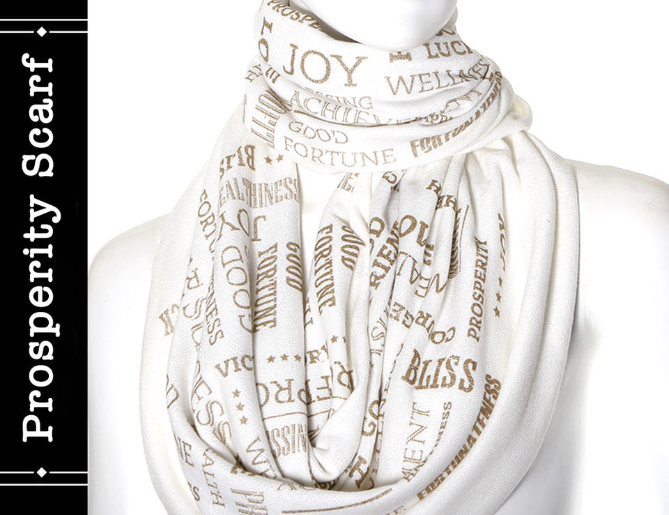 PROSPERITY SCARF ivory color