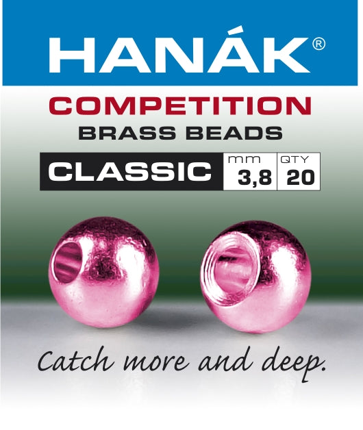 Hanak Competition Brass Beads CLASSIC METALLIC Pink