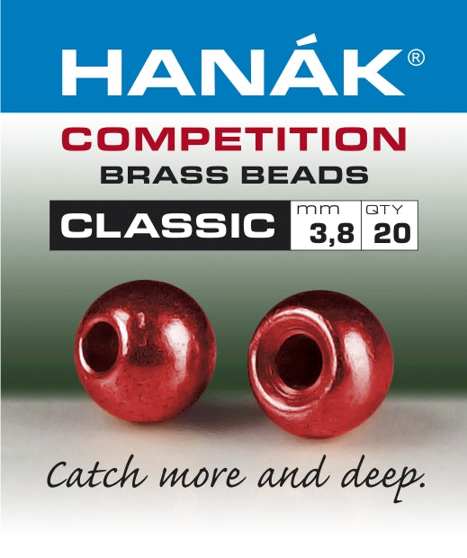 Hanak Competition Brass Beads CLASSIC METALLIC Red
