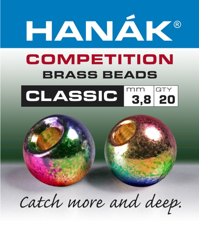 Hanak Competition Brass Beads CLASSIC METALLIC Rainbow