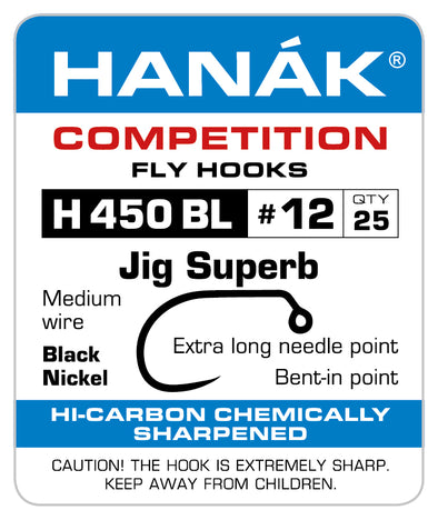 Barbless Hooks HANAK Competition H 450 BL Jig Superb