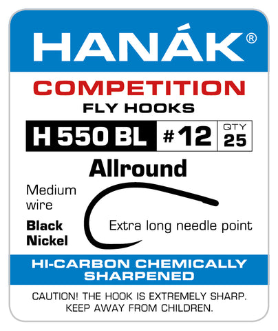 Barbless Hooks HANAK Competition H 550 BL Allround long