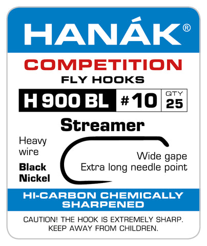 Barbless Hooks HANAK Competition H 900 BL Streamer