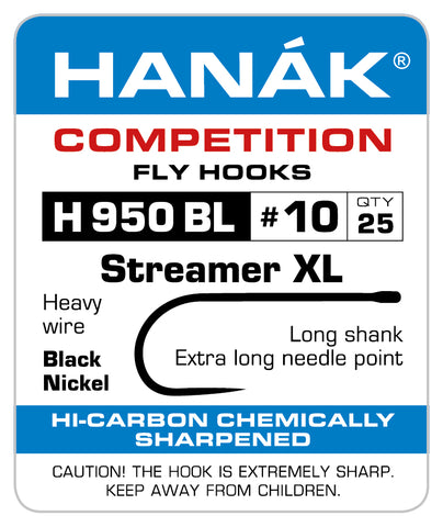 Barbless Hooks HANAK Competition H 950 BL Streamer XL