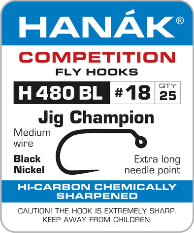 BARBLESS HOOKS HANAK COMPETITION H 480 BL Jig Champion