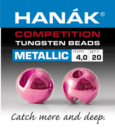Hanak Competition Tungsten Beads METALLIC Light Pink