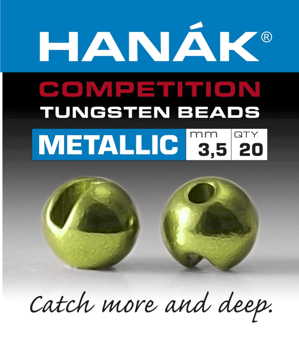 Hanak Competition Tungsten Beads METALLIC Olive