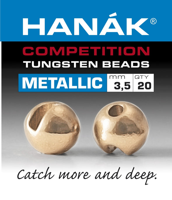 Hanak Competition Tungsten Beads METALLIC Rouge Gold