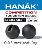 Hanak Competition Tungsten Beads ROUND + Black Matt