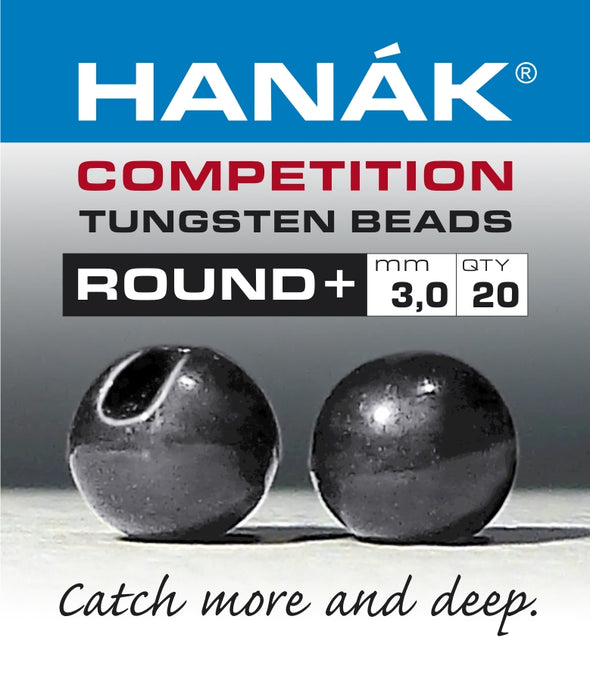 Hanak Competition Tungsten Beads ROUND + Black Nickel