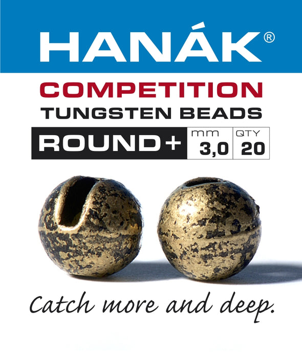 Hanak Competition Tungsten Beads ROUND + Bronze