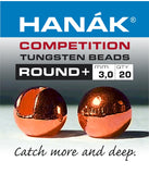 Hanak Competition Tungsten Beads ROUND + Cooper