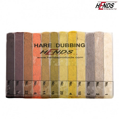 Hends Hare Dubbing 12 Color Dispenser