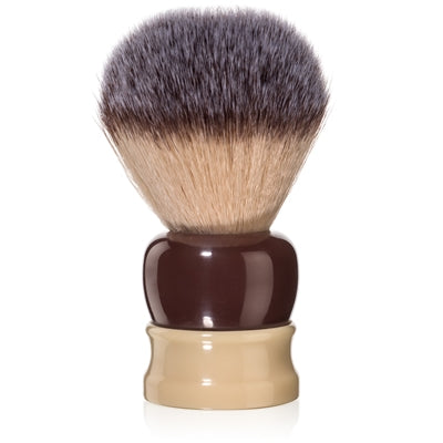 Fine - Stout Shaving Brush - Crimson and Ivory 24mm
