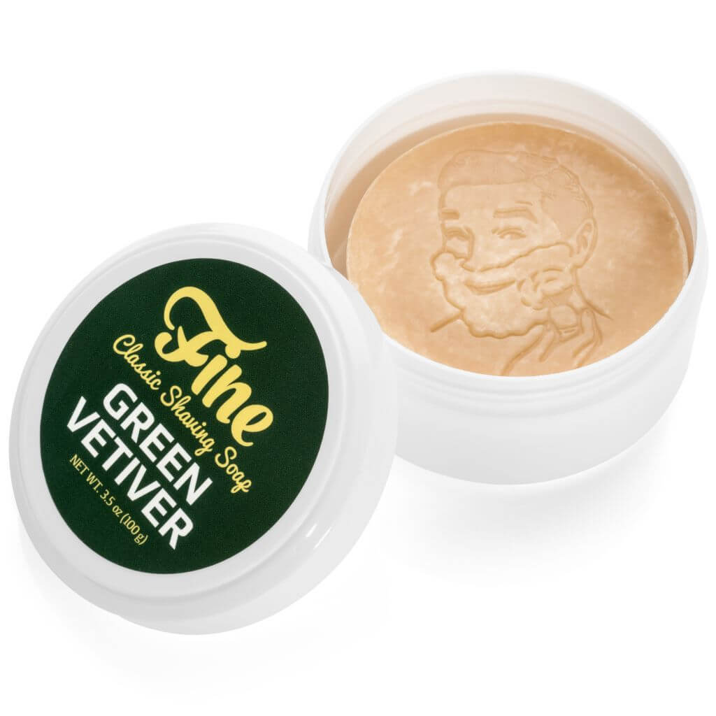 Fine – Green Vetiver – Shaving Soap