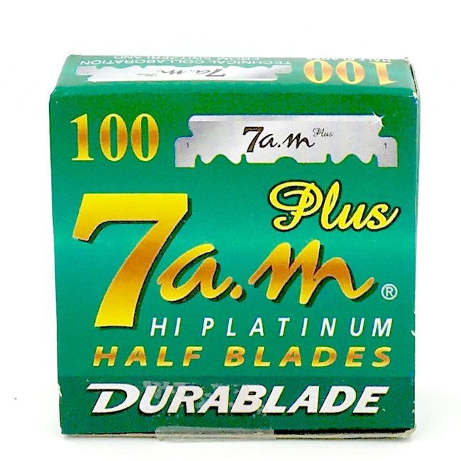 7AM - HI-PLATINUM Half Blades - 100 Count for Barber Shavette Razors