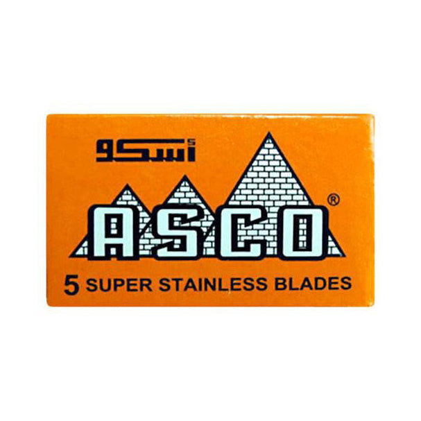 ASCO Super Stainless (Orange) DE Blades, 5 pack