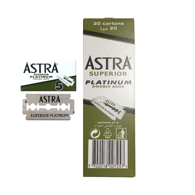 Astra Platinum DE Safety Razor Blades 100 Pack